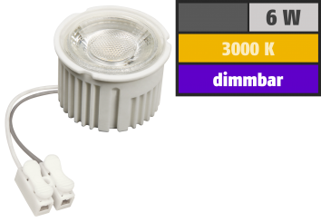 "LED-Modul McShine ""MCOB"" 6W, 400lm, 230V, 50x33mm, warmweiß, 3000K, dimmbar"
