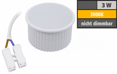 "LED-Modul McShine ""PL-30"" 3W, 265Lumen, 230V, 50x25mm, warmweiß, 3000K"