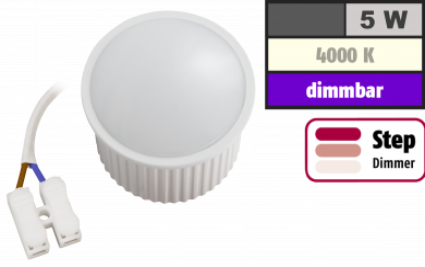 "LED-Modul McShine ""PL-50"" 5W, 400Lumen, 230V, 50x30mm, neutralweiß, step-dimmbar"