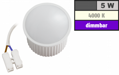 "LED-Modul McShine ""PL-50"" 5W, 400Lumen, 230V, 50x30mm, neutralweiß, dimmbar"