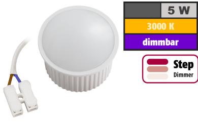"LED-Modul McShine ""PL-50"" 5W, 400Lumen, 230V, 50x30mm, warmweiß, step-dimmbar"