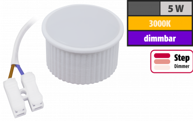 "LED-Modul McShine ""PL-55"" 5W, 440Lumen, 230V, 50x25mm, warmweiß, step-dimmbar"