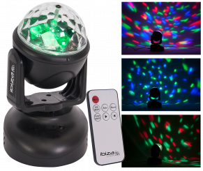 "LED-Moving Head IBIZA ""LMH-ASTRO"" 6x RGB LEDs, 18W"