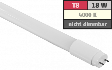 LED-Röhre Premium, T8, 18W, 2.600 lm, 270°, 120cm, neutralweiß