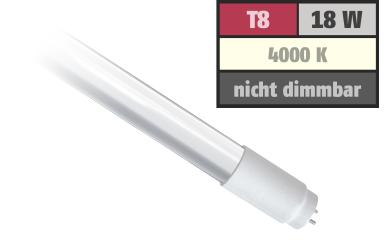 LED-Röhre, T8, 18W, 1.700 lm, 150°, 120cm, neutralweiß