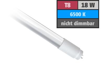 LED-Röhre, T8, 18W, 1.800 lm, 150°, 120cm, tageslichtweiß