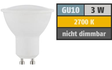 LED-Strahler GU10, 3W, 230lm, 2700K, warmweiß