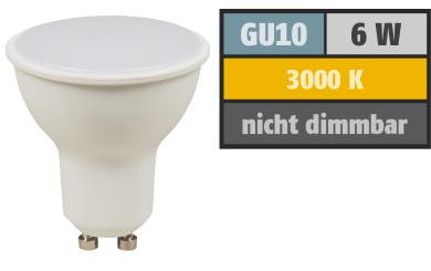 LED-Strahler GU10, 6W, 450 lm, warmweiß, Milchglas