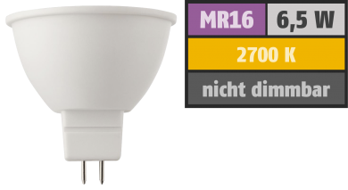 "LED Strahler ""HD95"" MR16, 6,5W, 380lm, 2700K, warmweiß, Ra>95"