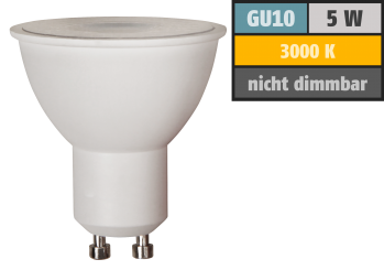 "LED-Strahler McShine ""Brill95"" GU10, 5W, 400lm, 38°, warmweiß, Ra >95, 50x56mm"