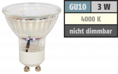 "LED-Strahler McShine ""ET10"", GU10, 3W, 250 lm, neutralweiß"