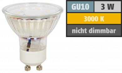 "LED-Strahler McShine ""ET10"", GU10, 3W, 250 lm, warmweiß"