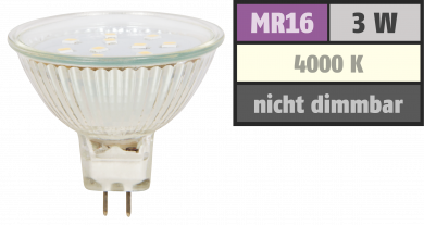 "LED-Strahler McShine ""ET10"", MR16, 3W, 250 lm, neutralweiß"