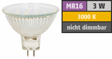 "LED-Strahler McShine ""ET10"", MR16, 3W, 250 lm, warmweiß"