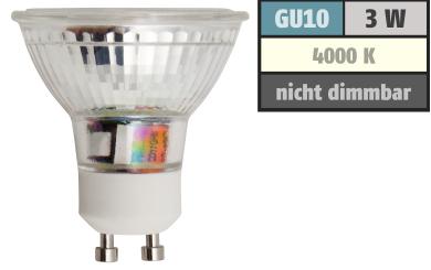 "LED-Strahler McShine ""ET32"" GU10, 3W COB, 240lm, neutralweiß"