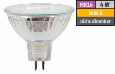"LED-Strahler McShine ""ET40"", MR16, 4W, 320lm, warmweiß"