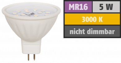 "LED-Strahler McShine ""ET50"", MR16, 5W, 400 lm, warmweiß"