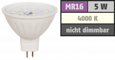 "LED-Strahler McShine ""ET50"", MR16, 5W, 400 lm, weiß"