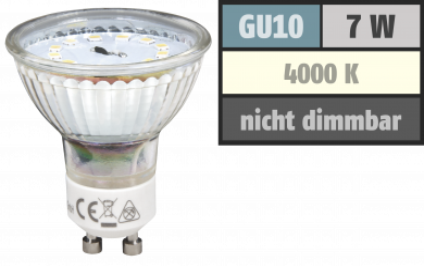 "LED-Strahler McShine ""ET70"", GU10, 7W, 470 lm, neutralweiß"