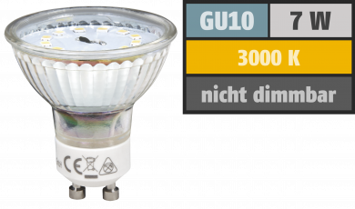 "LED-Strahler McShine ""ET70"", GU10, 7W, 470 lm, warmweiß"