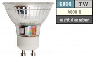 "LED-Strahler McShine ""ET75"" GU10, 7W COB, 560lm, neutralweiß"