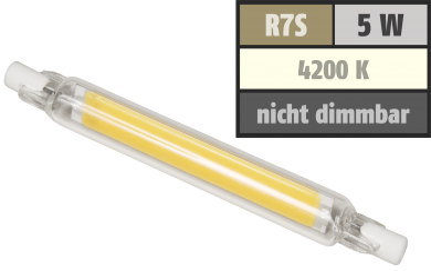 "LED-Strahler McShine ""LS-718"" R7s, 4W, 400lm, 78mm, 360°, neutralweiß"