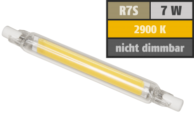 "LED-Strahler McShine ""LS-718"" R7s, 7W, 700lm, 118mm, 360°, warmweiß"