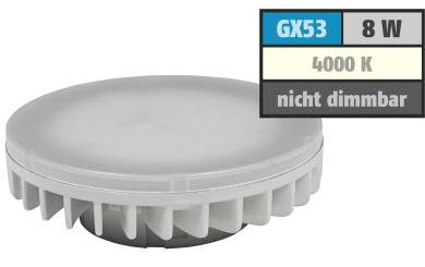 "LED-Strahler McShine ""LS-853"", GX53, 8W, 800lm, Ø75x25mm, 120°, neutralweiß"