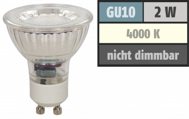 """LED-Strahler McShine """"MCOB"""" GU10, 2W, 100lm, neutralweiß"""