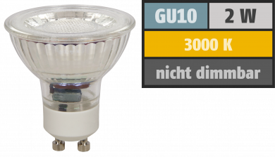 "LED-Strahler McShine ""MCOB"" GU10, 2W, 100lm, warmweiß"