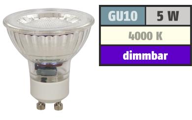 "LED-Strahler McShine ""MCOB"" GU10, 5W, 350 lm, neutralweiß, dimmbar"