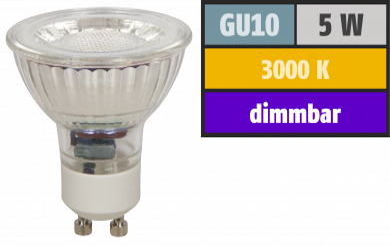 "LED-Strahler McShine ""MCOB"" GU10, 5W, 350 lm, warmweiß, dimmbar"