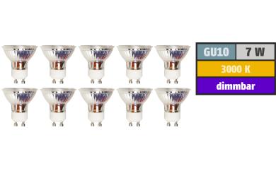 "LED-Strahler McShine ""MCOB"" GU10, 7W, 450 lm, warmweiß, dimmbar"