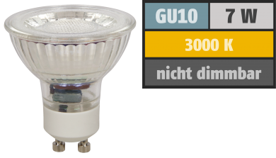 "LED-Strahler McShine ""MCOB"" GU10, 7W, 550 lm, warmweiß"