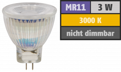 "LED-Strahler McShine ""MCOB"" MR11 / G4, 3W, 250 lm, warmweiß"