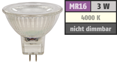 "LED-Strahler McShine ""MCOB"" MR16, 3W, 250 lm, neutralweiß"
