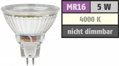 "LED-Strahler McShine ""MCOB"" MR16, 5W, 400 lm, neutralweiß"