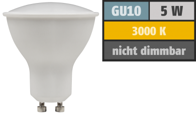 "LED-Strahler McShine ""PV-50"" GU10, 5W, 400lm, 110°, 3000K, warmweiß"