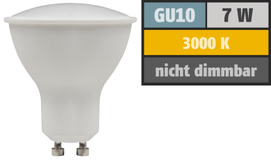 "LED-Strahler McShine ""PV-70"" GU10, 7W, 540lm, 110°, 3000K, warmweiß"