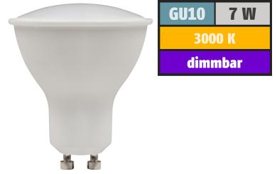 "LED-Strahler McShine ""PV-70-dim"" GU10, 7W, 520lm, 110°, 3000K, warmweiß, dimmbar"