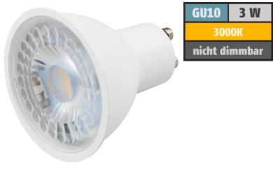 """LED-Strahler McShine """"PV-MCOB"""" GU10, 3W, 240lm, 38°, 3000K, warmweiß"""