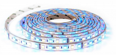 LED-Stripe 60LED/m, 1000lm/m, 9W/m, 12V, RGB + neutralweiß 4000k, 5m