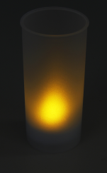 "LED-Teelicht ""Safety Candle"", inkl. Becher"
