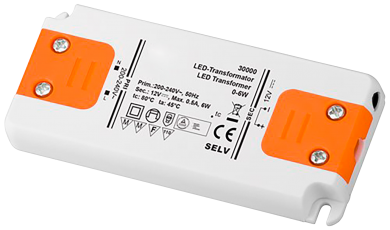 LED-Trafo 6W, elektronisch, 12V DC, slim