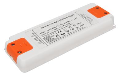 """LED-Trafo McShine """"Slim"""" elektronisch, 1-30W, 230V auf 12V, 160x58x18mm"""