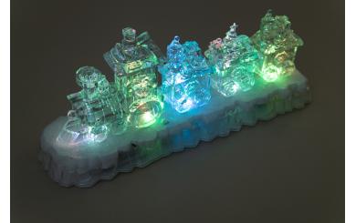"""LED Weihnachts-Dekolicht """"Zug"""", acryl, 4LED"""