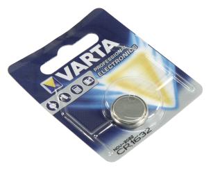 Lithium-Knopfzelle VARTA CR1632 3V, 16x3,2mm, 1er-Blister