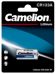 Lithium-Photobatterie CAMELION, CR123A, 3V, 1er-Blister