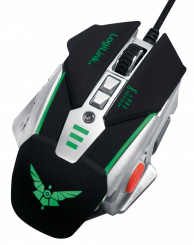 Maus, Gaming Mouse PRO, USB 8-Button, 2400dpi, variables Gewicht