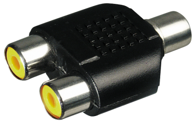 Audio-Adapter 2x Cinchkupplung > 1x Cinchkupplung